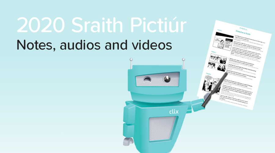 Banner of Sraith Pictiúr 2020 - Notes, Videos and Audios Now Available