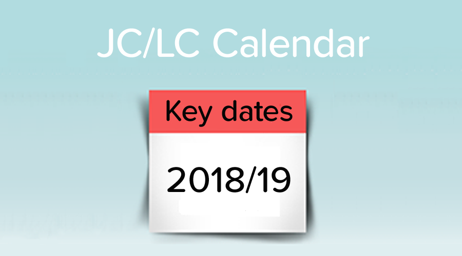 Banner of Key Dates for the 2018/19 School Year