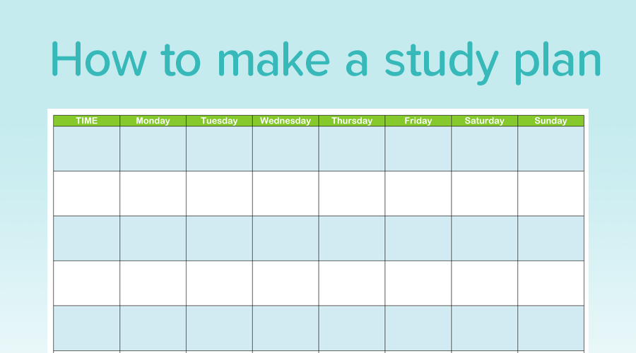 Banner of How to Make the Perfect Study Plan